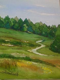 Park Path - Cape Cod - watercolor