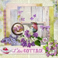 A beautiful mini kit freebie from the Lilac Cottage collection from Raspberry Road.
