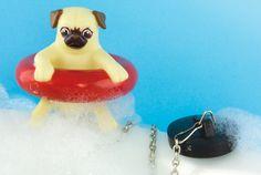 This Bath Plug Comes With a Floating Pug | Mental Floss