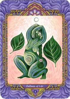 III - La plénitude de la vie (l'impératrice ) - Tarot triple déesse par Isha Lerner & Mara Friedman