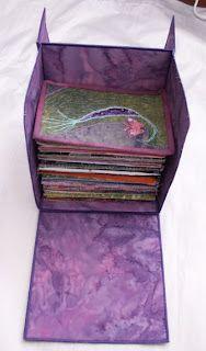 Fabric Postcard Box