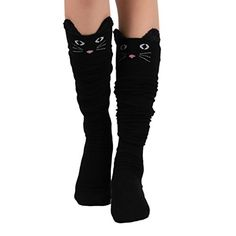 VOLYER Women Colored Woolen Knit Stocking Over Knee High Socks Leg ...