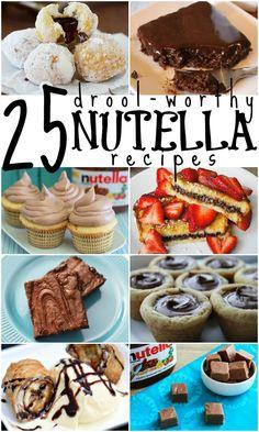 25 Drool-Worthy Nutella Recipes | Remodelaholic.com #nutella #recipe #chocolate #dessert @Remodelaholic .com .com
