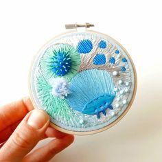 Clay embroidery by Justyna Wolodkiewicz