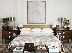 """Dormitorio de Harry Slatkin puesto por Howard en su versión más """"minimal"""""""