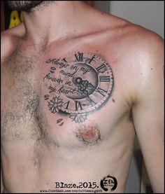 lion clock tattoo - Google Search