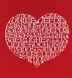 International Love Heart by Alexander Girard for Herman Miller #Illustration #Heart #Alexander_Girard