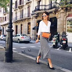 """Yesterday orange @chanelofficial touch  #lovelypepa #style #barcelona"""