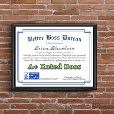 Office Decor, Gift for Boss, Boss Gift, funny boss Gifts For Your Boss, Gifts For Coworkers, Funny Prints, Quote Prints, Funny Boss Gifts, Happy Boss's Day, 15 Year Anniversary, Good Boss, Boss Humor