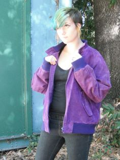 15 OFF SALE 1980s Over sized Bomber style by ArieleSierraDesigns, $49.99