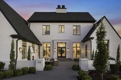 Love love love this exterior, black windows, courtyard, modern farmhouse look We are want to say thanks if you like to share this post to another people via your facebook, pinterest, google plus or twitter account. Right Click to save picture or tap and hold for seven second if you are using...