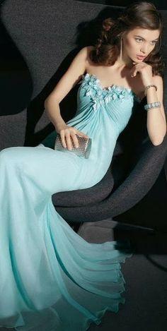 Beautiful Blue Color Long Dress