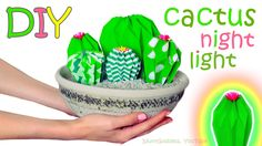 From this video you'll find out how to make an adorable mini cactus farm – which you can use as a nightlight or just as a room decoration. For this super cut...