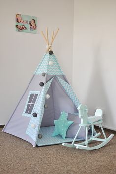 Teepee Tent, Teepees, Art N Craft, Craft Stick Crafts, Popsicle Stick Crafts House, Home Crafts, Diy And Crafts, Small Tent, Kids Tents
