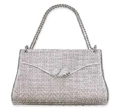 AN 18K WHITE GOLD AND DIAMOND EVENING BAG