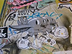 Angry Birds, Seattle, WA  Street art on a wall in Seattle, Washington, depicting two birds with a switchblade, a stick of dynamite, and a bo...