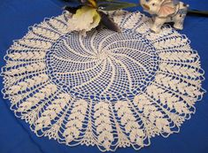Hey, I found this really awesome Etsy listing at https://www.etsy.com/listing/261979897/round-crochet-lace-doily-18-inches