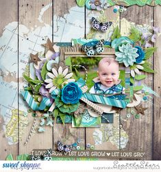 Digital scrapbook page by SeattleSheri using What a beautiful world by WendyP and lots to say freebie by Crystal Livesay