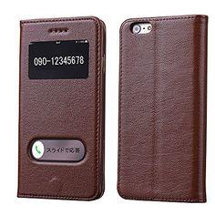 【Touching】iPhone6 保護カバー 手帳 財布 横開き レザー 窓付き  牛革 スタンド機能 マグネット開閉式 アイホン 6 スマホケース/スマホカバー/ソフトケース/ソフトカバー 画面保護 保護カバー/ケース スマートフォン/スマートホン プロテクター au Softbank Diary Case (ブラウン) Touching http://www.amazon.co.jp/dp/B011HTE1CK/ref=cm_sw_r_pi_dp_kO1Ovb0VPTRT7