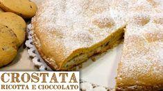 Ricetta semplice e veloce della crostata di ricotta e cioccolato fatta con pasta frolla leggera senza burro. Con lo stesso impasto facciamo i biscotti