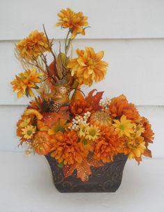 Silk Flower Arrangement, Orchids, Magnolia, Fern, Floral Arrangement  #Handmade | Decorating With Flowers | Pinterest | Flower Arrangements, Silk  Flowers And ...