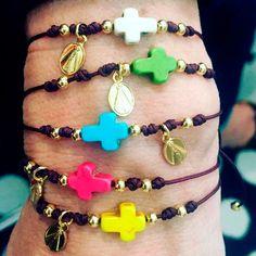 Bracelets By Vila Veloni Little Cross Stone
