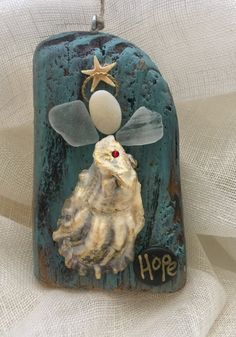 Excited to share the latest addition to my shop: Beachcomber angel Seashell Art, Seashell Crafts, Beach Crafts, Christmas Angels, Christmas Art, Christmas Ornaments, Snowman Ornaments, Sea Glass Crafts, Sea Glass Art