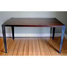 Wood dinning room table metal legs - Google Search