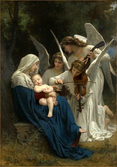 classic-art:Song of the AngelsWilliam Adolphe Bouguereau, 1881