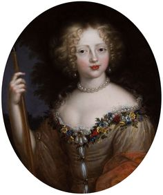 Portrait of Helena Tekla Lubomirska née Ossolińska as Flora by Nicolas Mignard, 1660s (PD-art/old), Muzeum Narodowe w Warszawie (MNW)