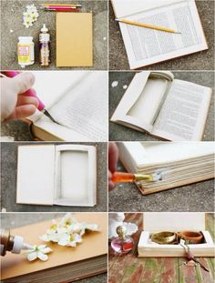 turn an old book into a jewelry box