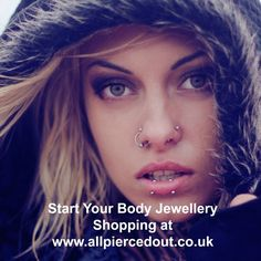 For all your piercing requirements, we sell barbells, navels, flesh tunnels and plugs, scaffold bars, aftercare, nose studs, dermal jewellery, fake body jewellery and much more. Take a look for yourself to see great value body jewellery without compromising on quality www.allpiercedout.co.uk We look forward to your custom :-)