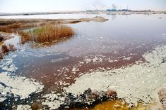 Heavily Polluted Lake In China