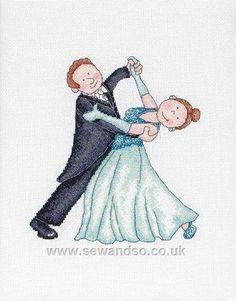 Ballroom Couple - Sew and So - Anchor