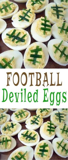 Football Deviled Eggs   perfect for super bowl parties!