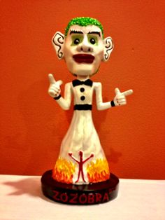 "Bobble head of the infamous ""Zozobra"".  Annual burning of this 60 foot marionette takes place the first Thursday of September."