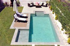 ¿De qué color se verá el agua de mi piscina? | Rosa Gres
