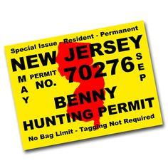 Benny Hunting Permit Sticker