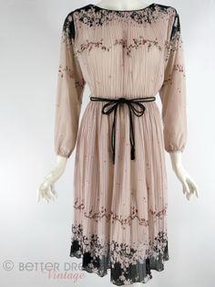 Vintage 70s or 80s Secretary Dress in Lavender by BeeDeeVintage, $38.00