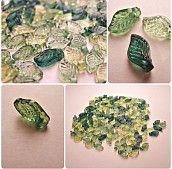 Lístečky 5x10 mm / mix zelené / 10 ks