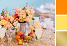 Tangerine, yellow and gold color palate | Heather Waraksa Photography