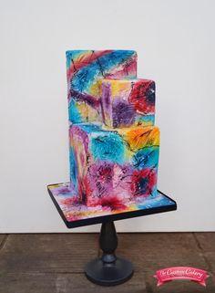 Kandinsky Inspired - Sugar Art Museum  by The Custom Cakery