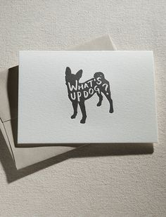 Letterpress printed with black ink on 100% cotton Crane's Lettrapearl  whitepaper. Paired with kraft envelope.      * Card: 5.5x4.125in     * Envelope: A2 with square flap     * blank inside     * Illustrated and printed in Dallas, Texas