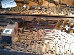 Antique Tools You-Tube Lumber Storage, Tool Storage, Antique Tools, Vintage Tools, Tool Workbench, Tool Board, Farm Tools, Making Life Easier, Vintage Farm
