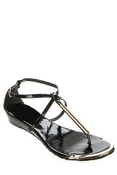 Dolce Wedge Sandals - Black