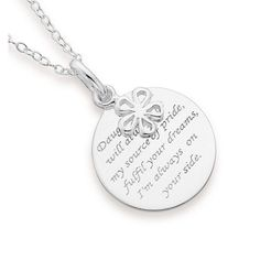 Sterling Silver Daughter Pendant