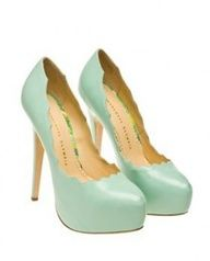2013 Wedding Trend - Kick up your heels in these mint platform shoes. Charlotte Olympia