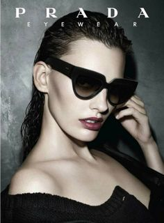 a912e54d34f8 Amanda Murphy stars in the latest Prada Eyewear Campaign photographed by  Steven Meisel.
