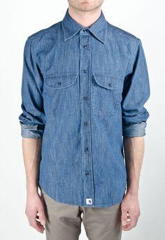 ADAM KIMMEL X CARHARTT Hay Denim BD Shirt
