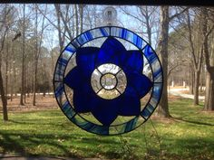 My first piece of stained glass, very proud of my work. FYI only hanging on auction for a quick picture. 3/31/14